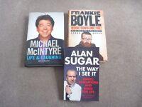 3 books, celebrity autobiographies