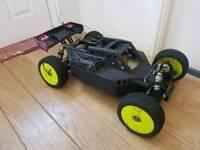 Losi 5ive B Buggy. Zenoah 32cc. Hitech. Futaba T4PV. 1-5 Scale Petrol RC Car Buggy