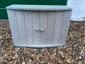 Pale Blue/green cupboard, with 1 shelf, UNUSED, COLLECT RICHMOND, SURREY