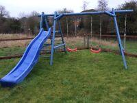Climbing frame, swings, slide