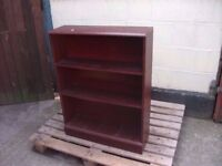 Book shelf dark wood three shelves delivery available