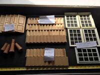Dolls house bundle stairs windows doors chimneys