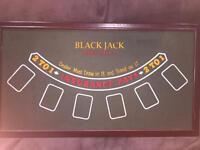 Roulette, blackjack, craps table