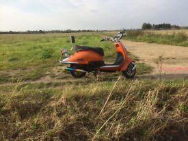 Tamoretti retro 125 burnt orange