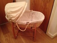 Moses Basket and stand ( Mamas and Papas )