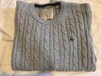 Jack Wills grey cable knit jumper