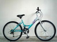 "(2153) 24"" 13"" RALEIGH STARZ GIRLS MOUNTAIN HYBRID BIKE BICYCLE; Age: 8-12; Height: 135-150cm"