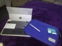 MICROSOFT SURFACE PRO 4 WITH PEN AND TYPE COVER AND PROTECT CASE