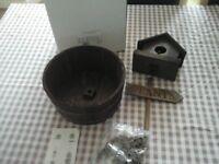 Brand new in box, wooden birdhouse planter