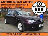 2009 PROTON PERSONA GEN-2 ** GAS BI FUEL ** FINANCE AVAILABLE WITH NO DEPOSIT **