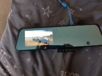 Mirror dash cam. Racing camera