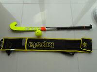 Grays Hockey Stick, ball and Kipsta bag.