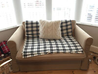 2 Seater Sofa Bed 'Hagalund' IKEA Beige - Great Condition