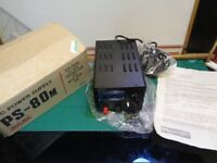 Daiwa PS-80M 240V AC to DC Power Supply 3-15V Rated 6A Max 8A