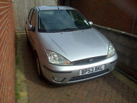 Ford Focus 2003-53 reg silver hatchback, full service history and very good condition