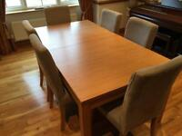 Dining table and 6 chairs (IKEA)