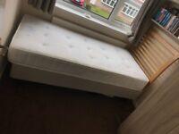 John Lewis single bed and mattress