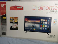 New Digihome 55Inch Full HD TV with Freeview Play from a smoke free house