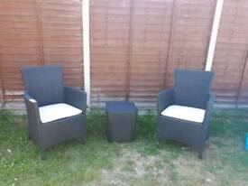 2 Seater Rattan Bistro set