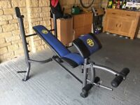 Marcy Weight Bench with 45kg weight