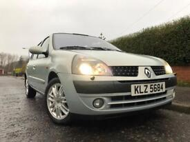 2002 Renault Clio 1.6 16v Initiale - leather, new MOT