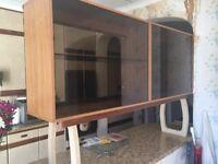 Free: retro kitchen storage/display cabinet with glass doors
