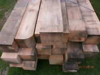 Wood Posts Not Treated 6ins X 6ins X 8 ft 6 ins New