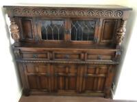 Old charm court cupboard /dresser