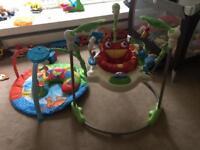 Baby jumparoo & play mat