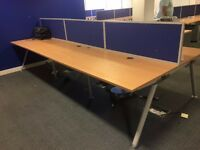 1200mm call centre desks with cable management and desk top screens