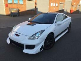 Toyota Celica in white, FULL BODYKIT, MODIFIED, NEONS, REAL HEADTURNER, EXCELLENT EXAMPLE