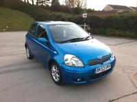 **AUTOMATIC+LOW MILES+SUNROOF+T-SPIRIT+TOYOTA YARIS BLUE (2003 YEAR)**