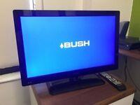 "24"" BUSH LED TV 12V BUILTIN DVD FREEVIEW USB CARAVAN/VAN/CAR TRUCK WORKS WITH CAR LIGHTER ALSO"
