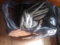 Job lot of 76 Ikea white coat hangers. 5 are black.