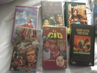 Selection of old classic video tapes