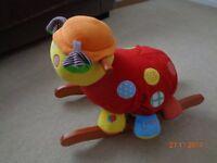 Mamas and Papas Lotty Ladybird Rocker (baby/toddler colourful fun rocker toy)