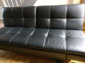 3 seater black sofabed (collection only)