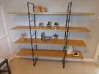 "Shelves on black frame "" industrial-look"" - good size"
