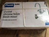 Plumbsure chrome finish basin mixer tap