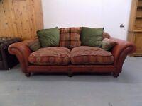 Beautiful Tetrad Eastwood Leather & Fabric Midi Sofa 2-3 Seater