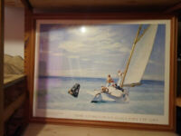 Edward Hopper Ground Swell Print 34 inches x 26 inches