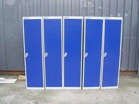 helmsman Blue metal Locker Lockers 1 Door with lock and key 8 for sale