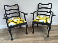 Pair of Modern Reupholstered Chairs