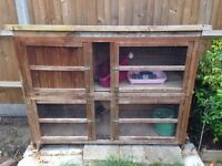 < Make me an offer! > Large Rabbit Hutch (approx 2 ft D x 4 ft H x 5 ft W)
