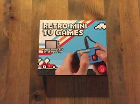 Retro mini TV games, unsealed, boxed, new