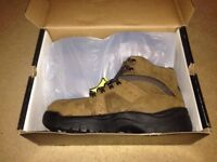 Trojan Workwear Brown Leather Safety Boot - Steel Toe Cap - Size 11