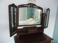 vintage dressing table with 3 mirrors