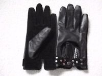 Women Leather + Suede gloves size S/M BRAND NEW!!!