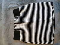 Topshop high waisted black and white tube skirt 14