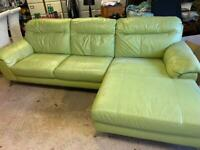6 seat real leather sofa set
